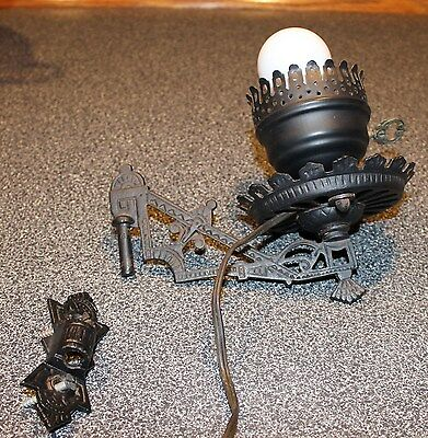 Vintage Cast Iron Wall Lamp Electric Early American