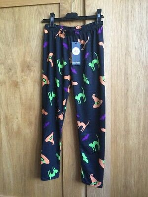 BNWT BooHoo girls Halloween Witches  & Cats Leggings  Age 11 - 12