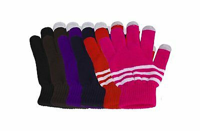 6 Pack Knit Touch Screen Texting Gloves - Winter Texting Active for Smart Phone