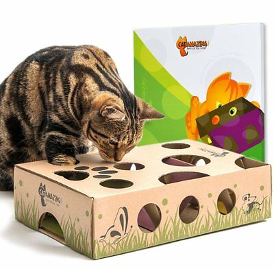 Toy Interactive Treat Maze & Puzzle Game for Cat Three Levels Pet Supplies Box