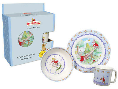 Royal Doulton Bunnykins 3 Piece Melamine Set Star (Plate,bowl And Cup)