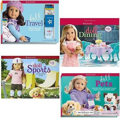 American Girl BOOK SET DOLL PETS, SPORTS, TRAVEL, DINING Lot of 4 Books! NEW