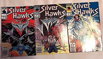 Silver Hawks#1-3 Fn/vf Lot 1987 Marvel Comics