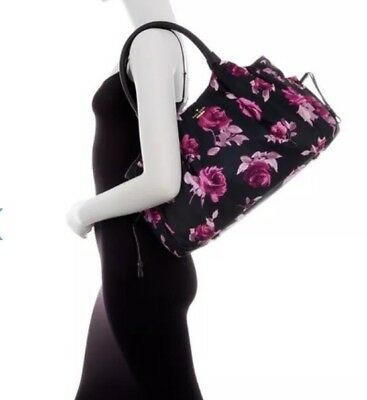 Kate Spade Classic Stevie Diaper BABY Bag STUNNING Pink Black Floral NWT $448