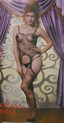 Catsuit Bodystocking Tuta Aperta Sexy Shop Hot Lingerie Intimo Rete Body Tutina