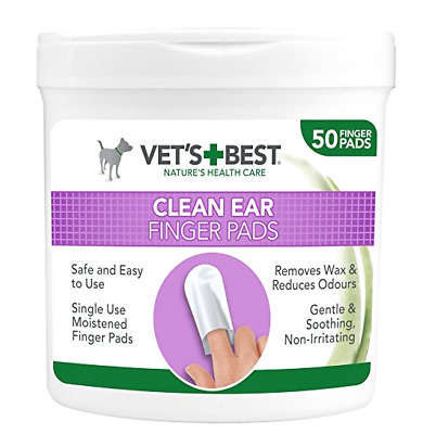 Vets Best Ear Cleaning Pads pack of 50 finger pads