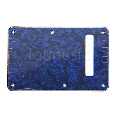Tremolo Trem Cover Back Plate for Strat Parts Replacement 3 Ply Blue Pearl