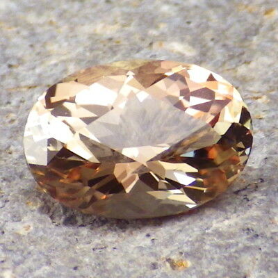 PEACH-PINK-WALNUT OREGON SUNSTONE 3.96Ct CLARITY VS2-FROM PANA MINE-FOR JEWELRY