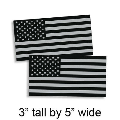 American Black White BW Flag Decal USA United States US Subdued Sticker VAR