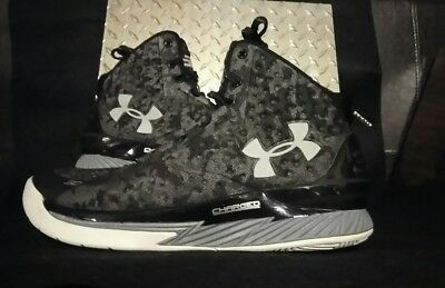 a0fbb84f3000 SC Under Armour Stephan Curry 1 MI30 Black Grey Camo Charged anafoam Shoe  US 10