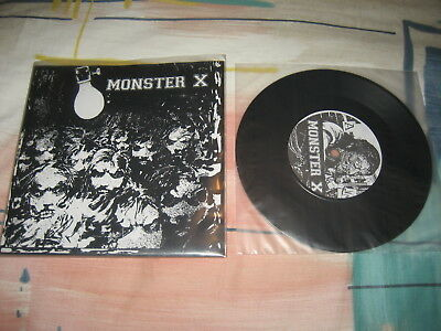 "MONSTER X Demo 7"" assück in disgust excruciating terror brutal truth catheter"