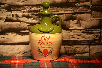 Old Rarity De Luxe Scotch Whisky Decanter Leer  #c0027