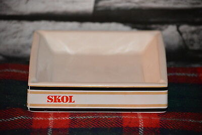 Skol Beer Ashtray Aschenbecher Keramik #c0239
