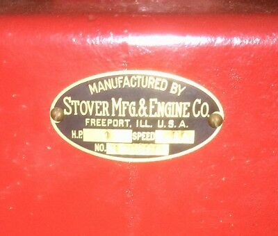 "Stover type ""K""  1 HP on cart has cream separator pulley 1910"