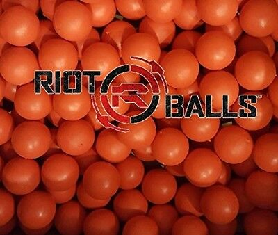 Re-Usable Training Foam Rubber balls 68cal Tac Balls Paintballs - 500 Rounds Red