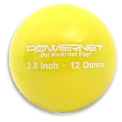(12 Oz - Yellow) - PowerNet 7.1cm Weighted Hitting and Batting Training Ball