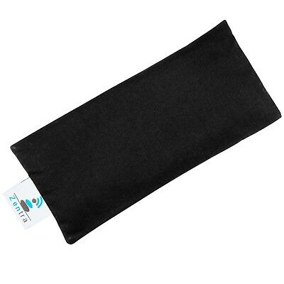(Black) - Zentra MEDITATION EYE PILLOW - 100% Natural Cotton with Flaxseed
