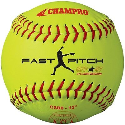 Champro Game ASA Fastpitch .47 COR, 375 Compression, Poly Synthetic Cover, Red