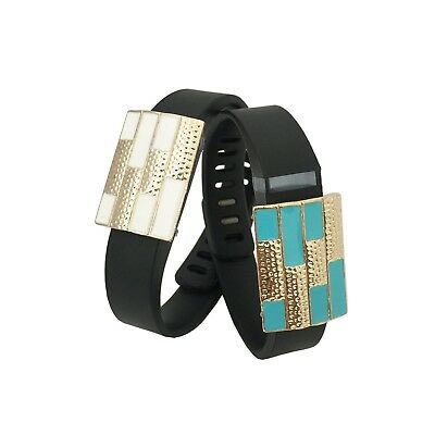 (Garmin Vivosmart, White/Blue) - Charms to Accessorise Fitbit or Other