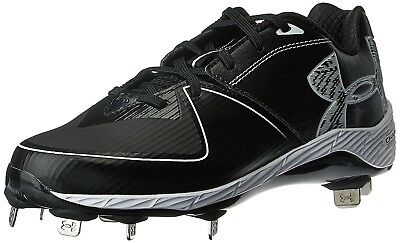 (5.5 Medium US, Black/Black) - Under Armour Women's Glyde 2.0 ST Softball Cleats
