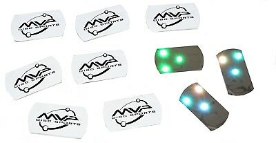 (Tri-Change Pack) - MVP Disc Golf Flat LED Tri-lite Disc Golf Lights (Pack of