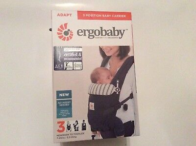 Ergobaby Adapt 3 Position Baby Carrier In Admiral Blue Brand New