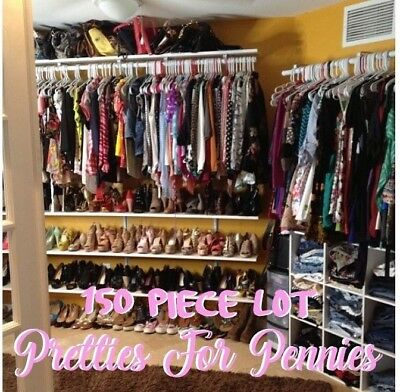 BULK clothes LOT 150 pc Namebrand Resell Wholesale kids Womens Mens clothing