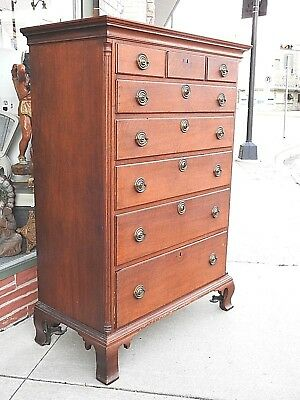 Pennsylvania Chippendale American Colonial high boy dresser tall chest 1800's