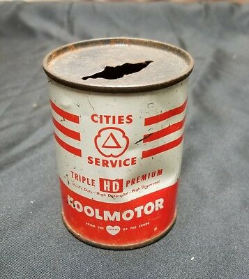 Vintage Cities Service Koolmotor Motor Oil Can Bank - 4 Oz. Size