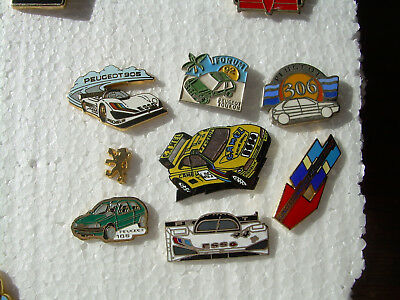 Rare LOT pin's automobile voiture LOGO CARS FRANCE FRENCH PEUGEOT 405 905 RACING