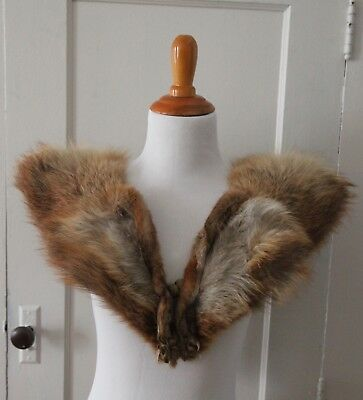 Vintage fox fur stole fur wrap fur collar with legs and claws