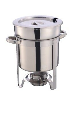 stainless steel 11 Qt soup stantion with water pan Contemporary Marmite, chafer