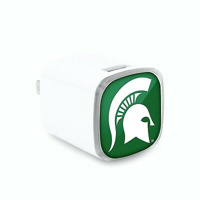 Michigan State Spartans Wall Charger. Indian Marketplace. Free Shipping
