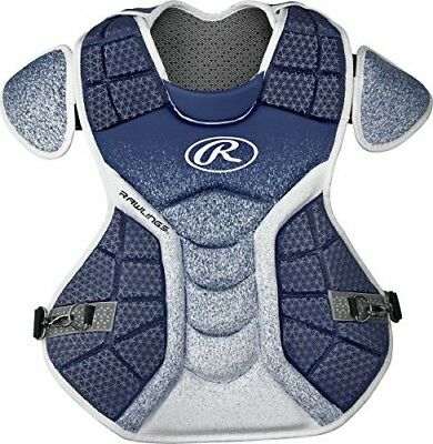 (Navy/White) - Rawlings Sporting Goods Catchers Chest Protector Velo Series