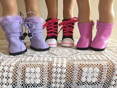 """NEW-DOLL BOOTS [3 Pairs] fit 18"""" Doll such as American Girl  Dolls- Lot #299"""