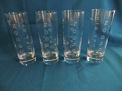 Set of 4 Beefeater Dry Gin London 1820 Collins Glasses - EUC