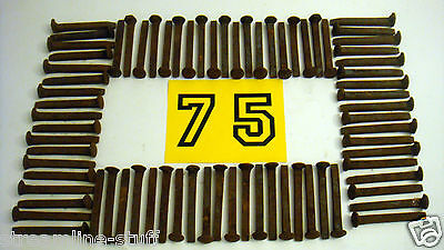 "LOT of 75 Used Carbon Steel 6-7"" Large Variety Vintage Railroad Spikes"