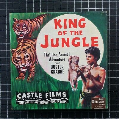 Super 8 movie KING OF THE JUNGLE Castle Films Buster Crabbe pre-code 200ft sound