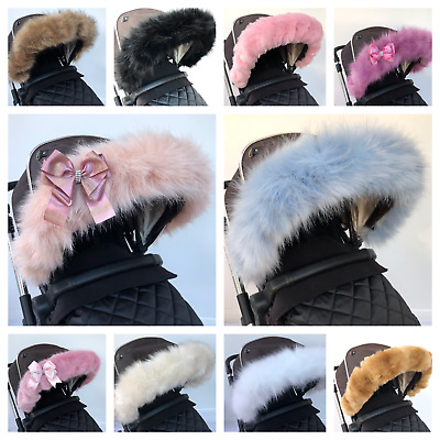 Fur for pram hood universal trim  FAST DELIVERY Universal fit, iCandy, bugaboo