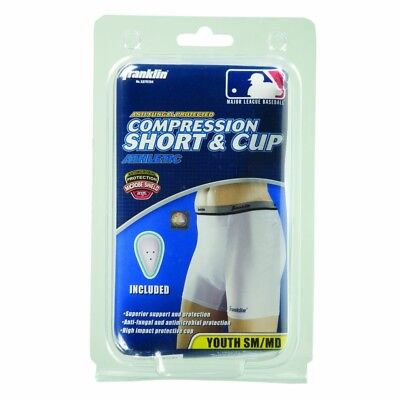 (Small/Medium) - Franklin Sports Youth Compression Short With Cup