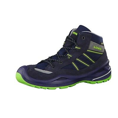 (13.5 UK, Navy/Lime) - Lowa Unisex Kids' Simon Ii Gtx Qc High Rise Hiking Boots