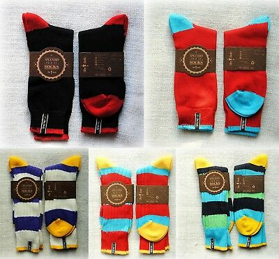 "NEW LUXURY UNISEX Warm Socks from ""Two Socks""  Medium and Large sizes"