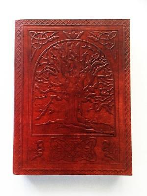 Tree Of Life Leather Bound Journal Book Of Shadows Large, Blank Pages