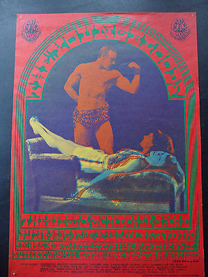 Original Vintage Concert Poster, 2nd Print, Avalon Ballroom, June 1967, 14 x 20