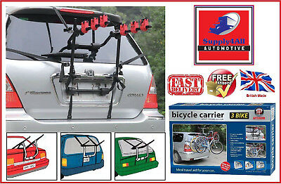 3 BICYCLE REAR MOUNT CARRIER CAR RACK for DACIA DUSTER ESTATE 13-ON