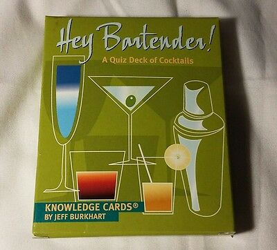 NEW HEY BARTENDER DECK 48 RECIPES CARDS BARTENDERS RECIPE COCKTAILS mixology