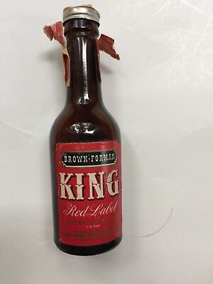 Miniature whiskey bottle - King Red Label