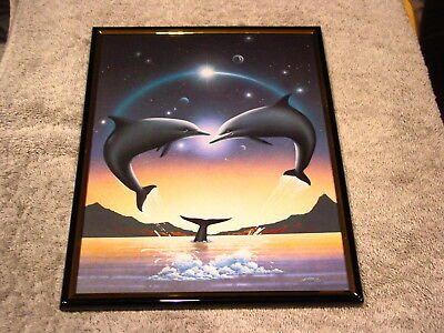 DOLPHINS 8X10 FRAMED PICTURE #2 ( poster )