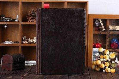 For Apple iPad Retro Ancient Vintage Old Book Style PU Leather Smart Stand Cover