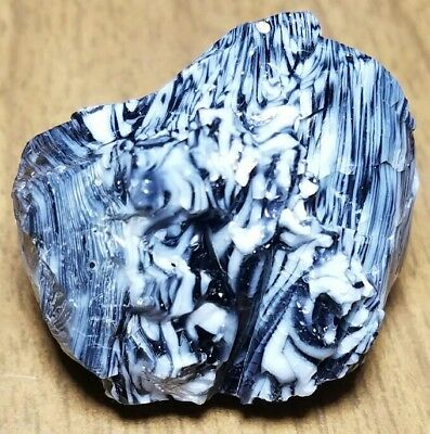 《WICKED》 ZEBRA SPAGETTI Akro Agate Marble Cullet Scrap Glass Gem RARE 1.5 OZ